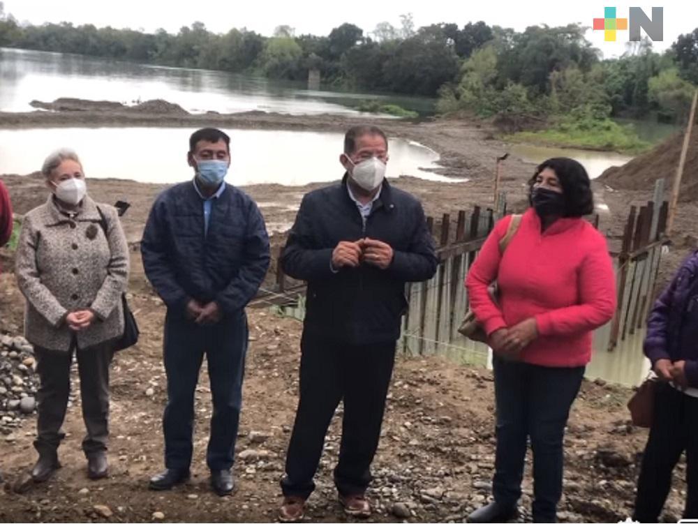 Supervisó diputado Pozos Castro construcción de cárcamo en Tuxpan