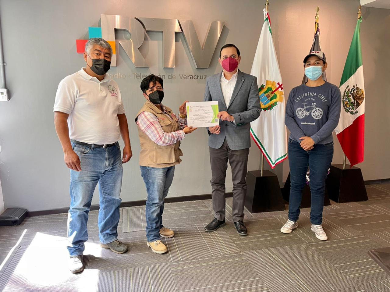 Asociación Civil GIDCA reconoce a RTV por labores en pro del medio ambiente