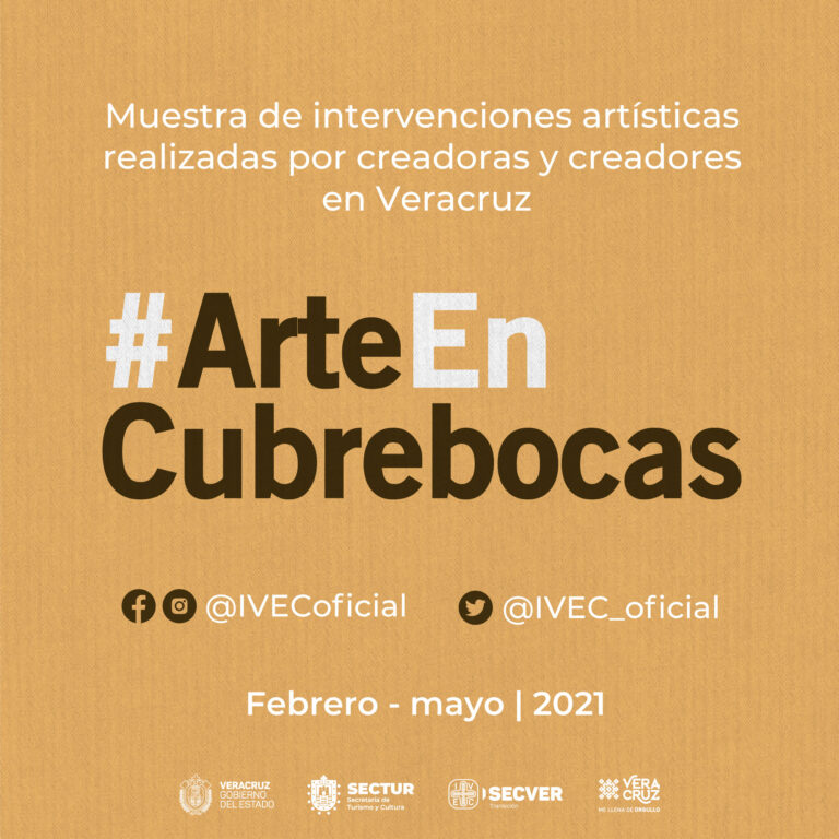 Promueve IVEC uso de cubrebocas con la campaña #ArteEnCubrebocas