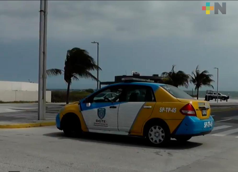 Iniciaron cierres viales en Veracruz y Boca del Río por Alerta Preventiva