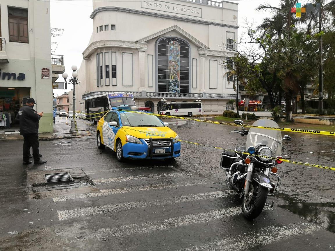 Cierres viales en municipio de Veracruz