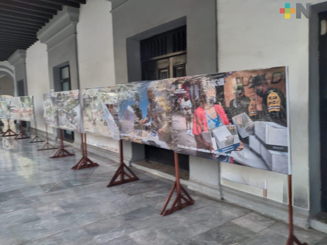 """Inició exposición: """"Febrero, mes del ejército y fuerza aérea"""", en el puerto de Veracruz"""