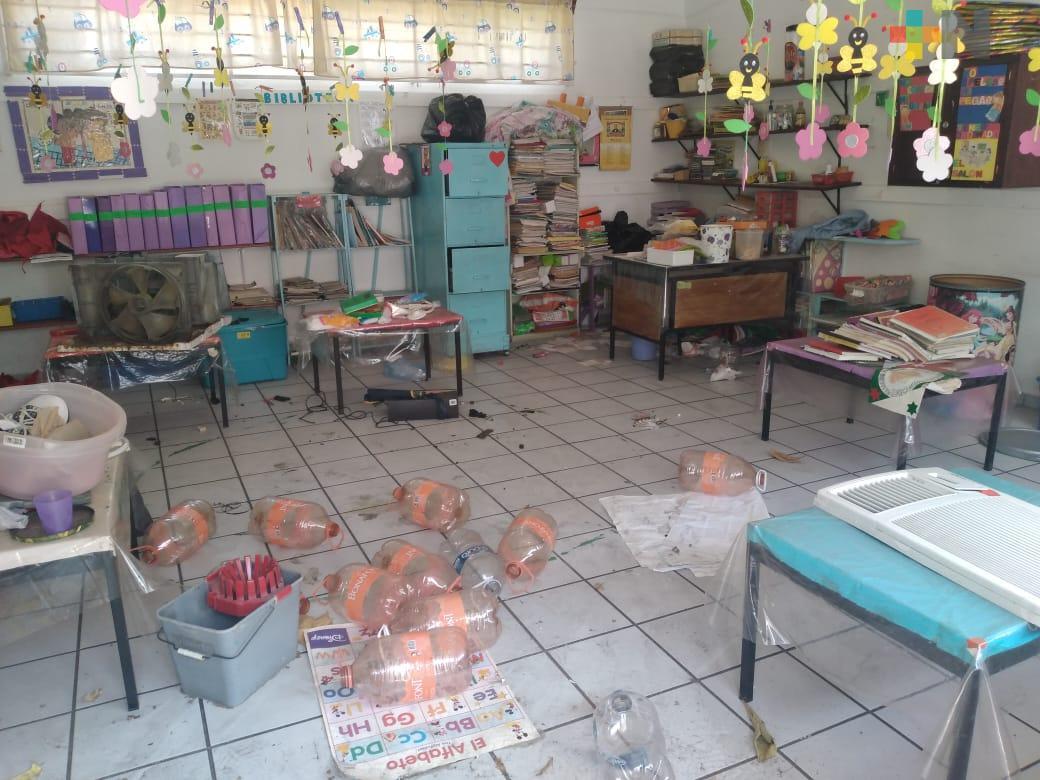 En dos meses han saqueado jardín de niños de Veracruz cuatro veces, piden mayor vigilancia