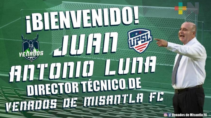 Juan Antonio Luna dirigirá a los Venados de Misantla
