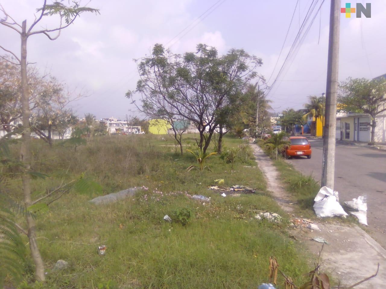 Piden dar mantenimiento a parque del fraccionamiento Río Medio II de Veracruz