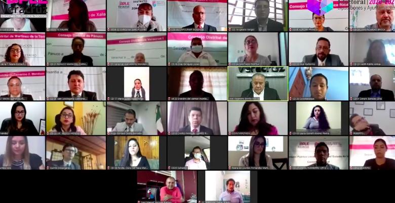 Rindieron protesta de manera virtual, presidentes de Consejos Distritales del OPLE Veracruz