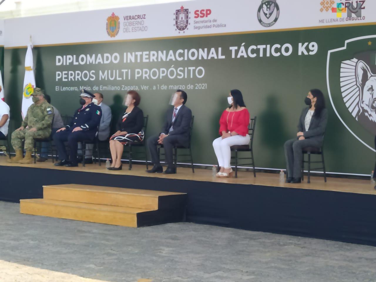 Inició Primer Diplomado Internacional Táctico K9 Perros Multipropósito en Veracruz