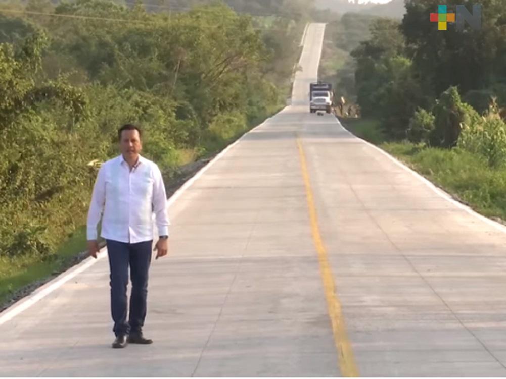 Gobernador Cuitláhuac García Jiménez inauguró camino La Pimienta-La Guásima