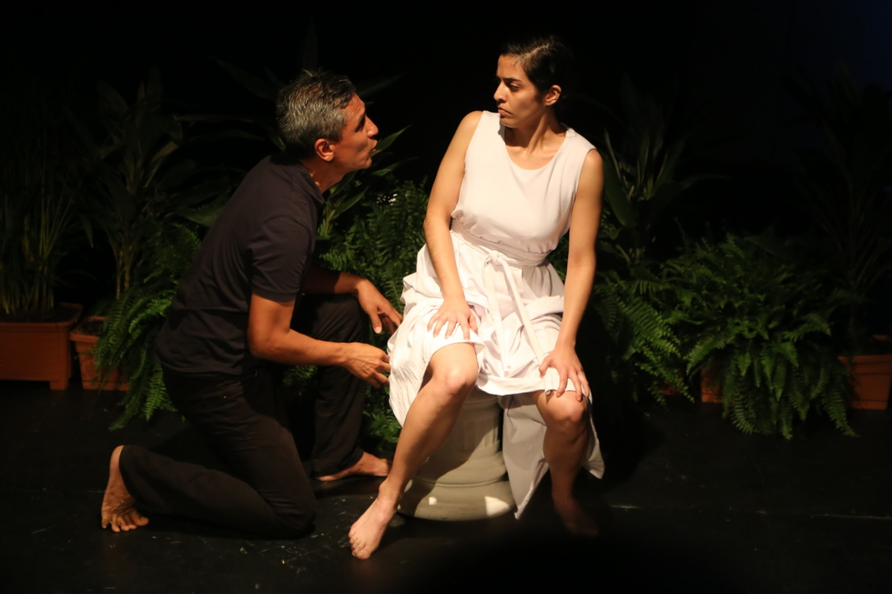 Tres últimas funciones de Lucrecia, primer borrador en el Teatro La Caja.
