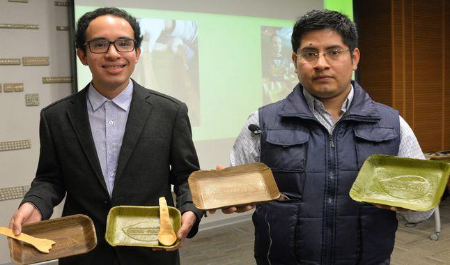 Crean platos biodegradables a base de hojas de plátano