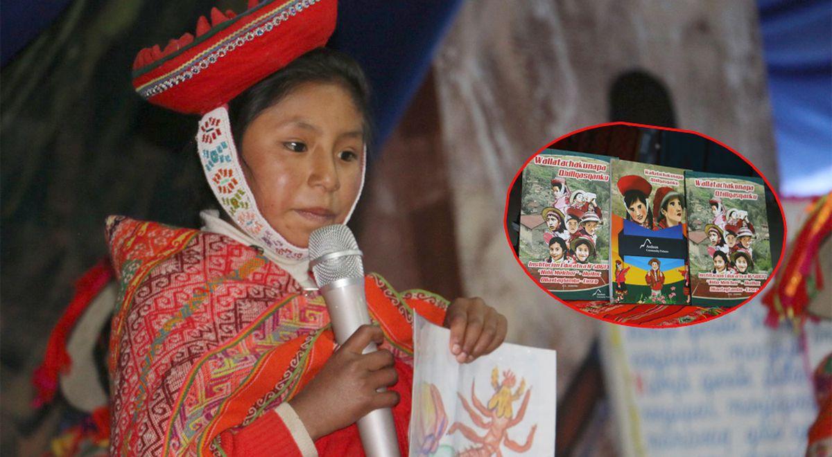 Presentan libro en lengua de los Incas escrito por niños