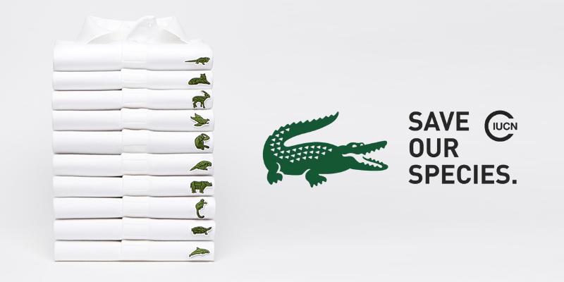 Lacoste cambia su logo de cocodrilo para ayudar a especies en peligro de extinción