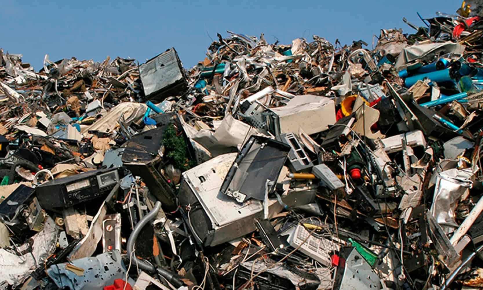 ¿Cómo se clasifica la basura electrónica?