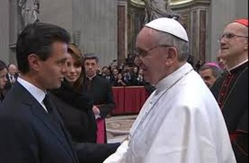 Enrique Peña Nieto convive con Papa Francisco