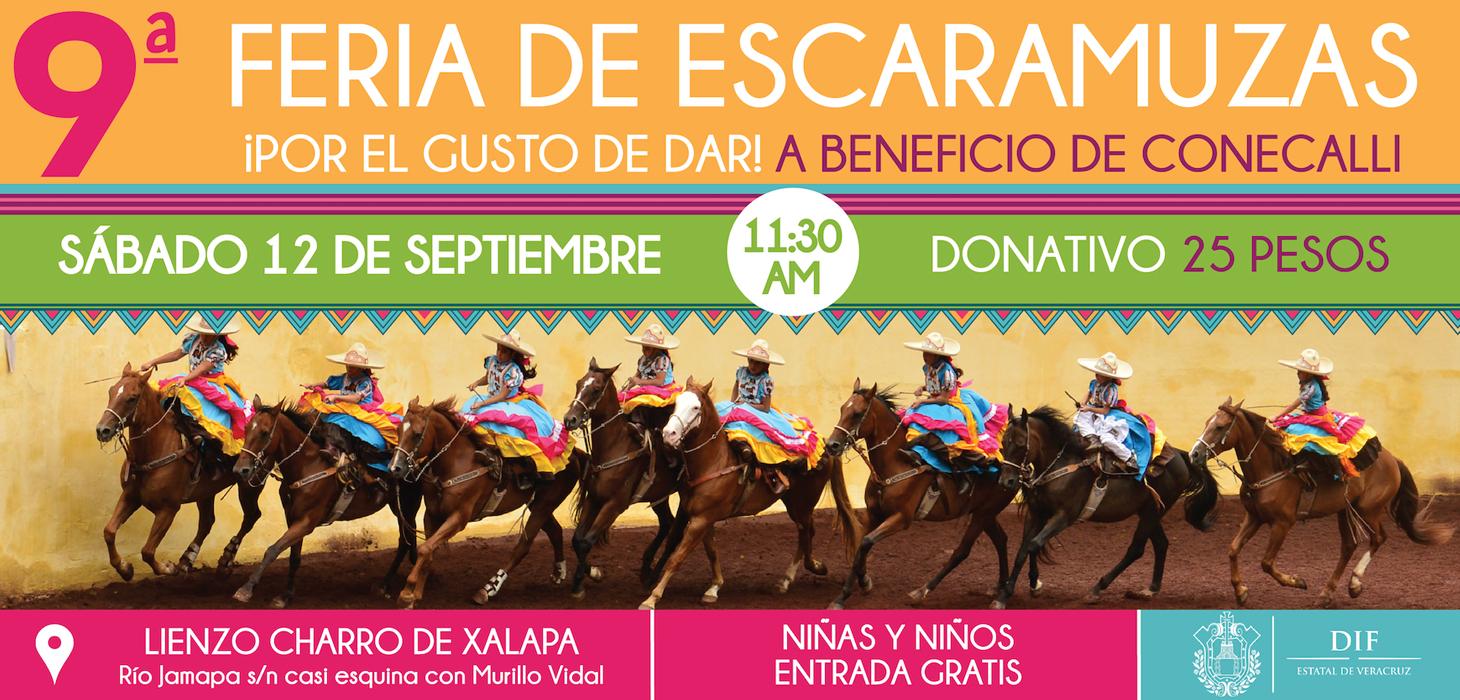 Asiste a la 9ª Feria de Escaramuzas en Xalapa, el 12 de septiembre