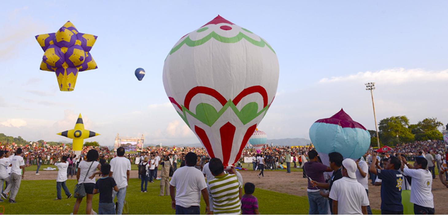 Tradición multicolor en San Andrés Tuxtla con Festival Internacional del Globo de Papel