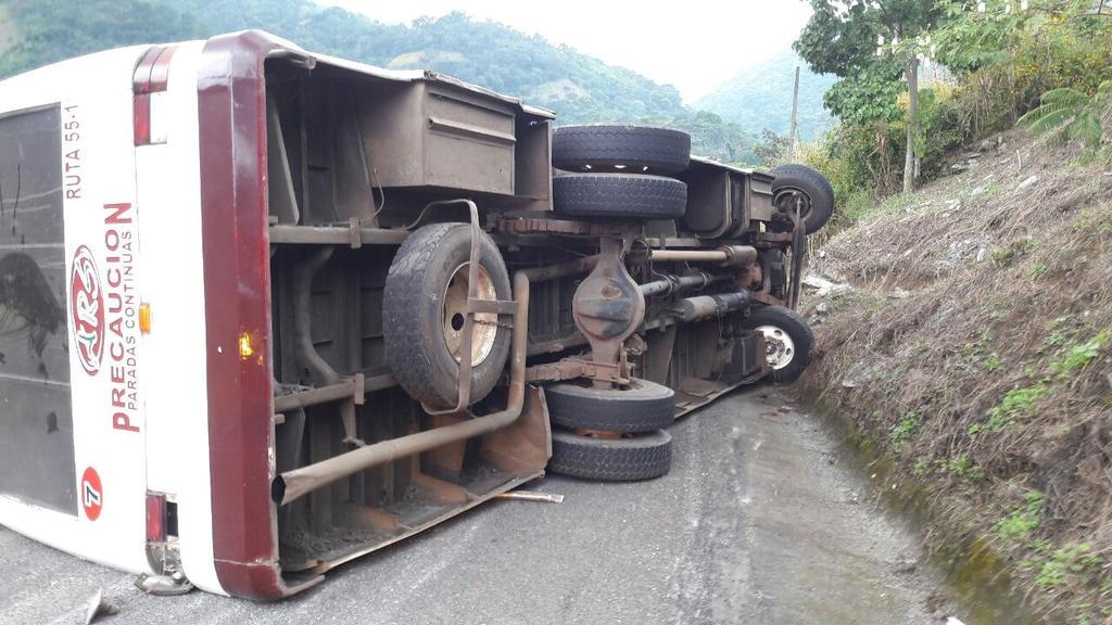 Se registra accidente en la autopista Veracruz-Cardel
