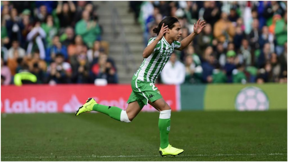 Diego Lainez  debutó en Copa del Rey en empate ante Espanyol