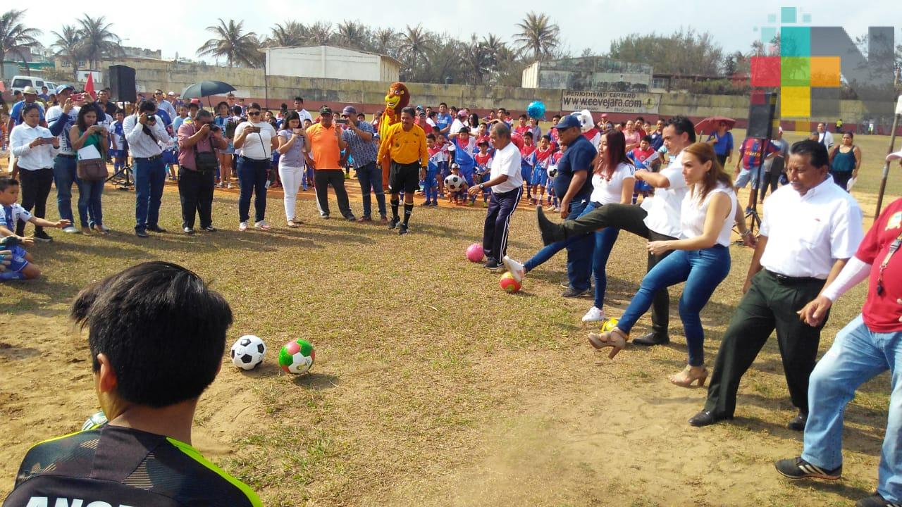 Arranca temporada de la Liga Municipal de Futbol Infantil de Coatzacoalcos