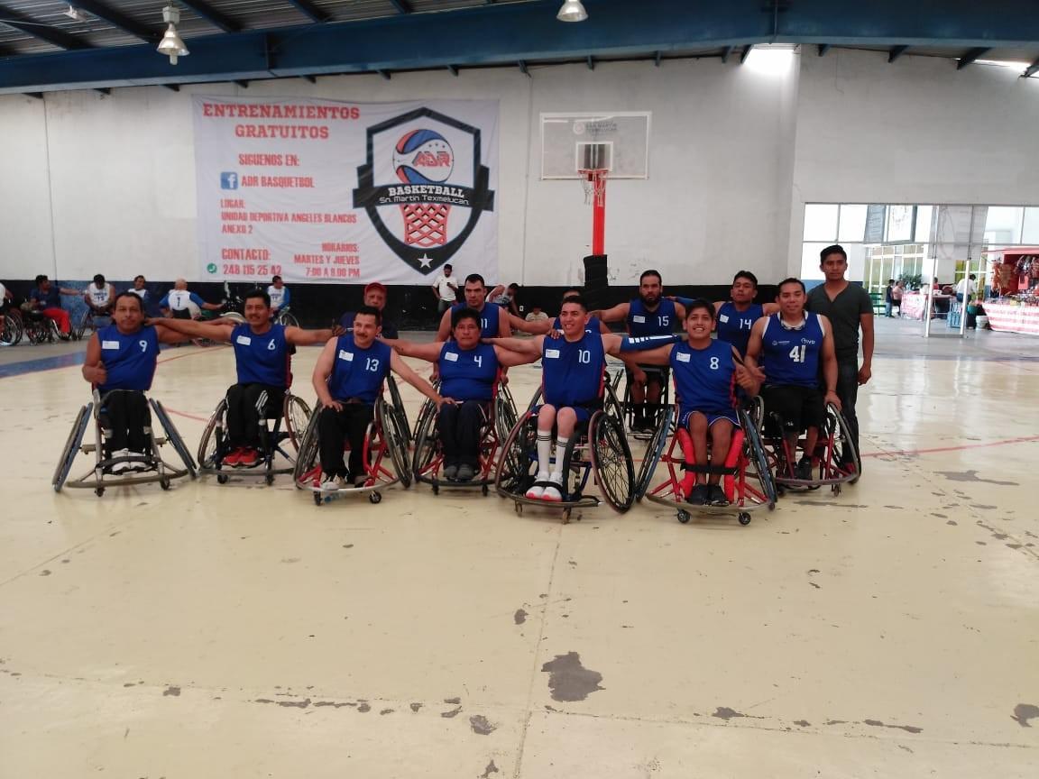 Tiburones sobre silla de ruedas participó en Liga Tlaxcalteca de baloncesto