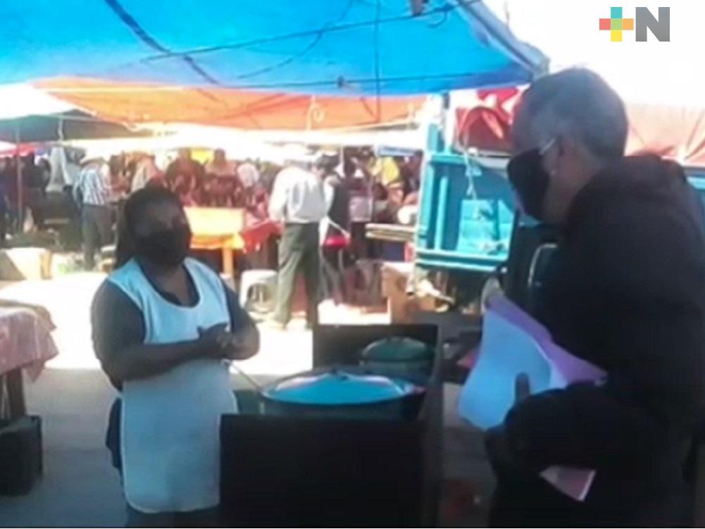 Ante incremento de coronavirus en Sierra de Huayacocotla, Protección Civil exhorta a población seguir medidas sanitarias