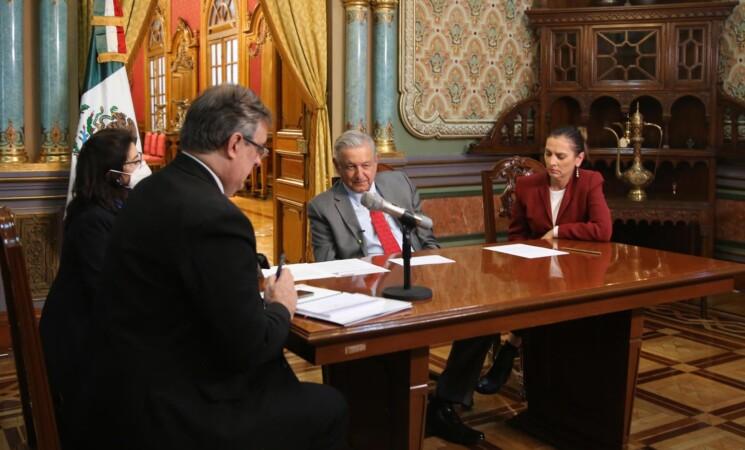 Dialogan presidentes de México y Alemania sobre COVID-19, economía e intercambio de bienes culturales