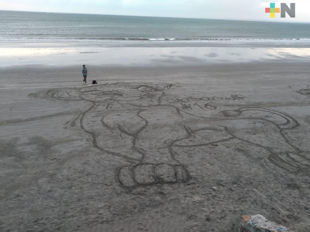 Plasmará 31 dibujos en playa Gaviota de Boca del Río