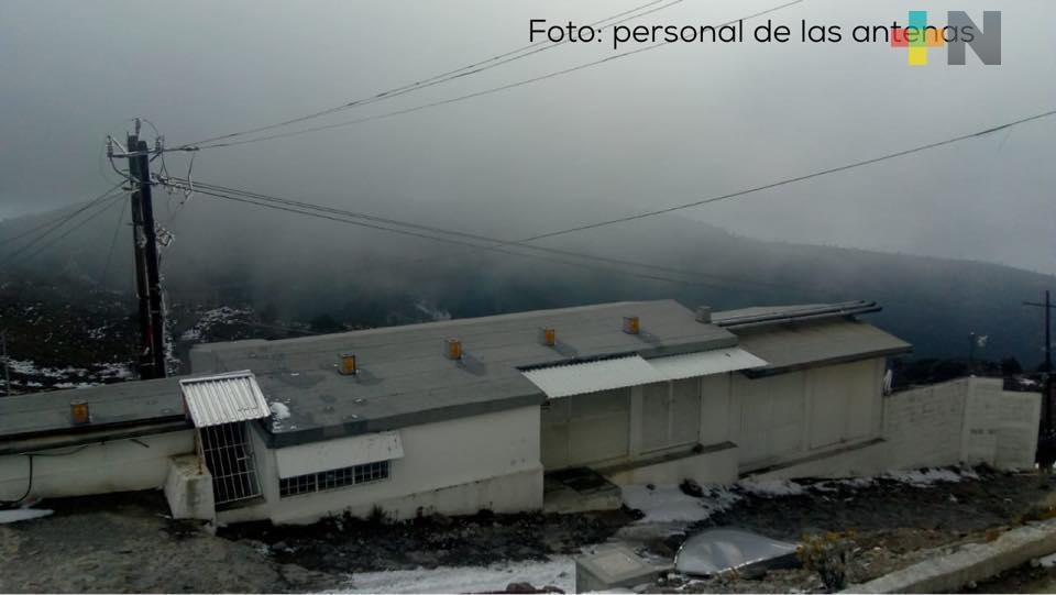 Se registra la primera nevada de 2021, en la Peña del Cofre de Perote
