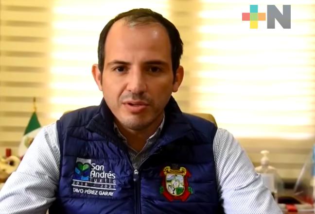 El secretario de Gobierno, Eric Cisneros, confirmó que se investiga al alcalde de San Andrés Tuxtla