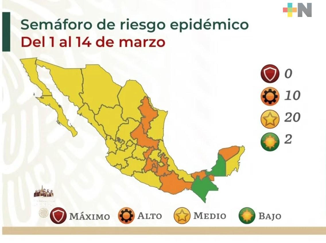 Pasa Veracruz a semáforo amarillo