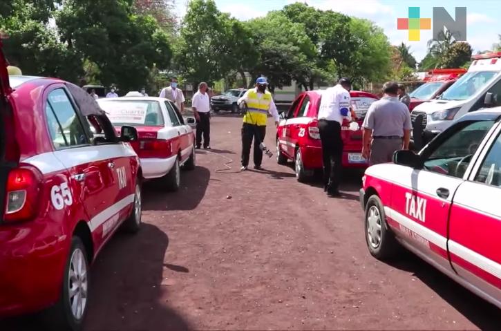 En Soledad de Doblado se realizó desinfección de unidades de transporte público