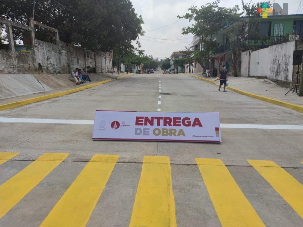 Ayuntamiento de Coatzacoalcos inauguró pavimentación en colonia Benito Juárez Norte