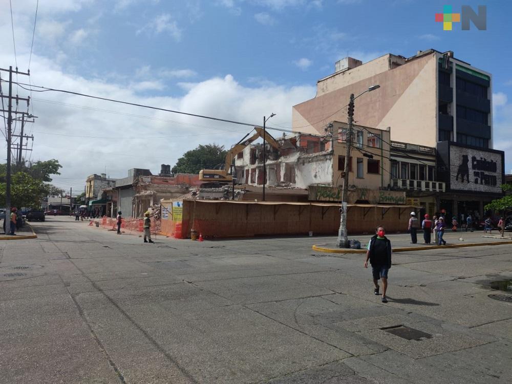 Inició demolición de Hotel en Coatzacoalcos, abrirán tienda departamental