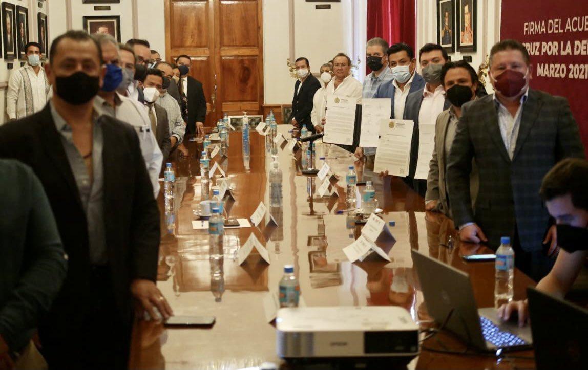 Sector empresarial se sumó al Acuerdo Veracruz por la Democracia 2021