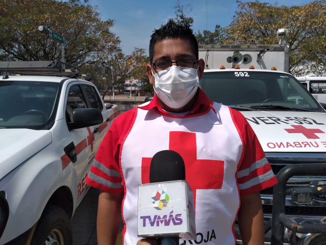 En la Cruz Roja de Veracruz se han incrementado atenciones por accidentes de tránsito