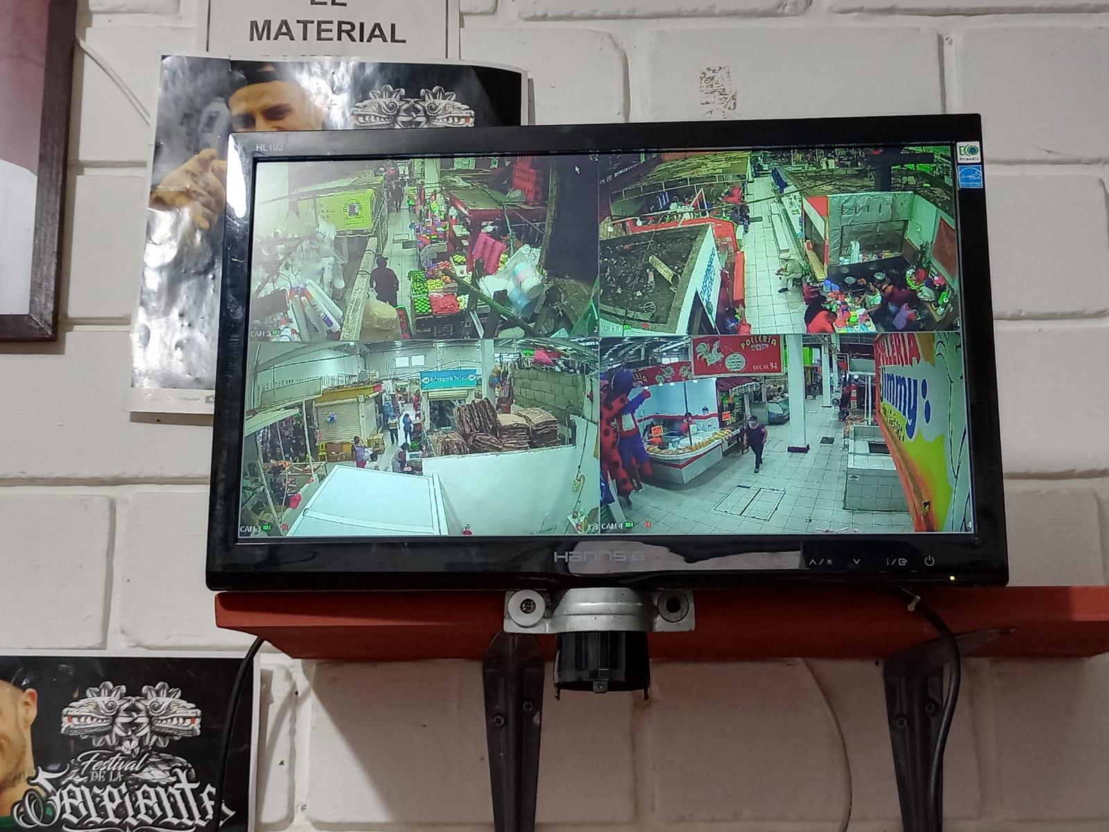 Instalaron cámaras de videovigilancia en el mercado Morelos de Coatzacoalcos