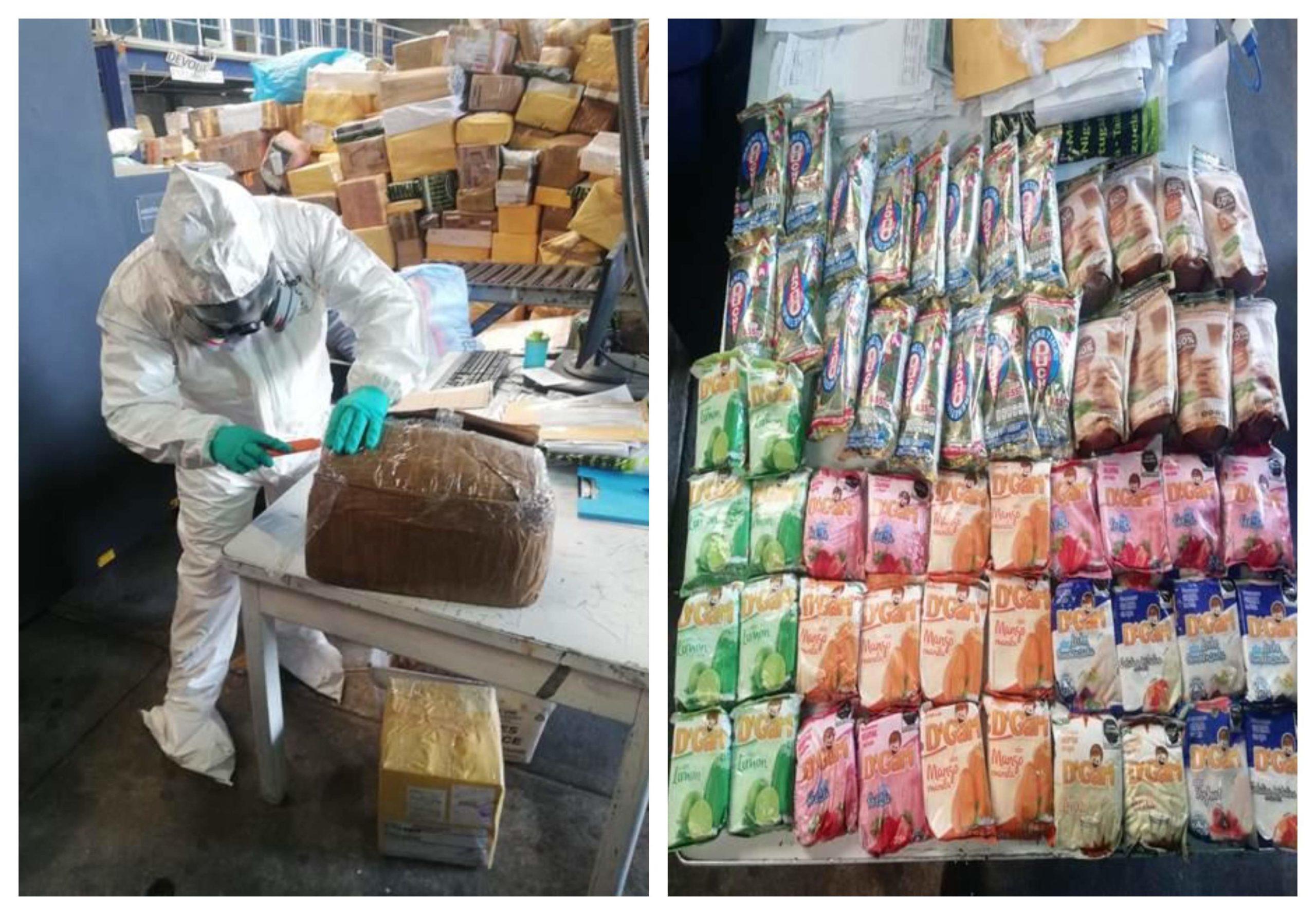 Guardia Nacional y SAT decomisaron kilos de metanfetamina en empaques de gelatina