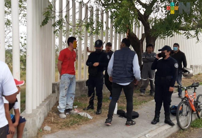 Detuvieron a sujeto señalado de agresión sexual en alrededores de laguna El Coyol de Veracruz