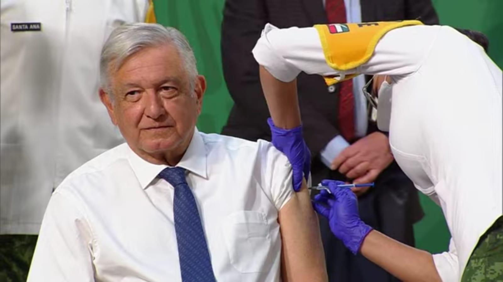 El presidente López Obrador fue vacunado; recibió primera dosis contra el COVID-19