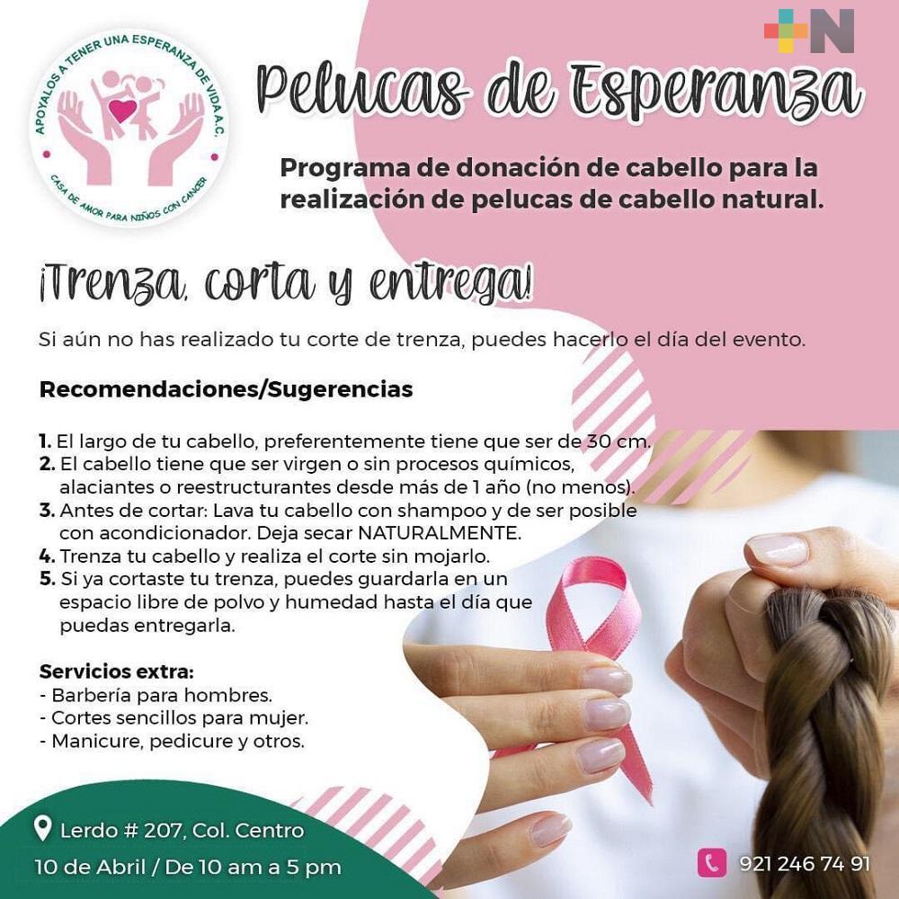 En Coatzacoalcos, Casa de Amor realizará su campaña «Pelucas de Esperanza»