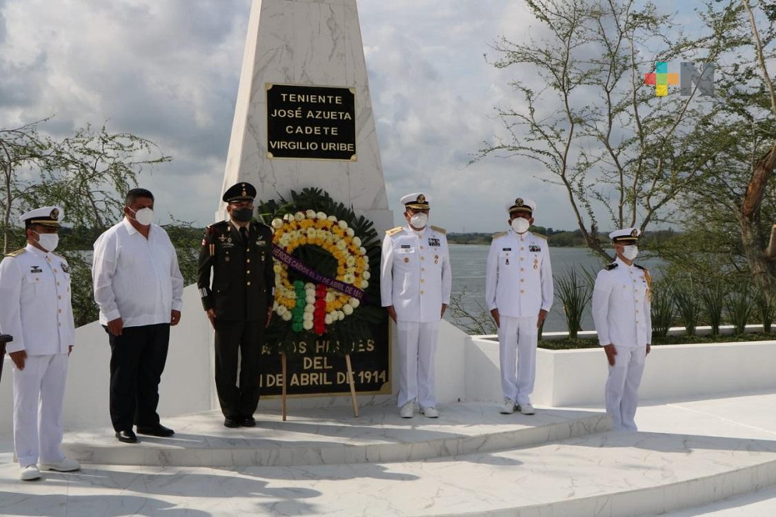 En Tuxpan, conmemoraron Gesta Heroica del Puerto de Veracruz y 200 años de la Armada de México