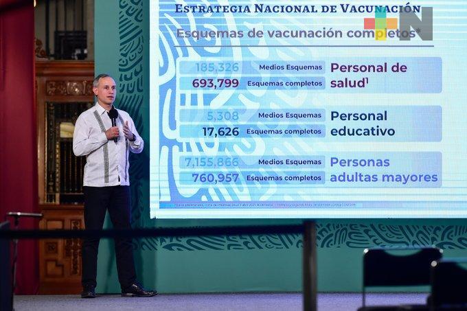 Seguirán llegando más dosis de vacunas contra COVID a México