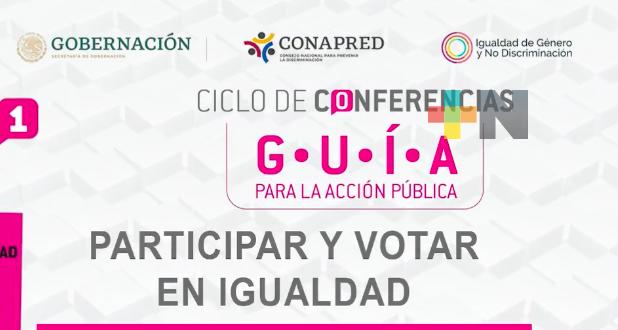 Inició INE el ciclo de conferencias Guía para la Acción Pública, con el tema Participar y Votar en igualdad