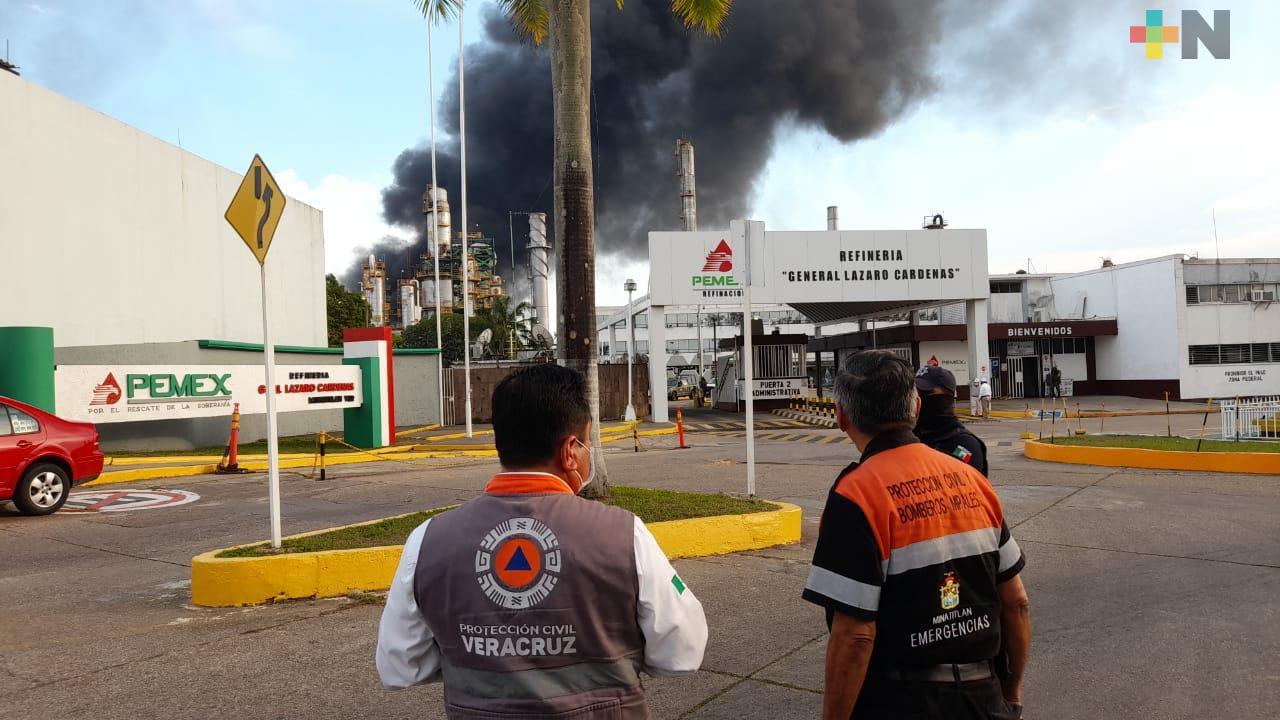 Establece PC perímetro de seguridad tras explosión en Minatitlán