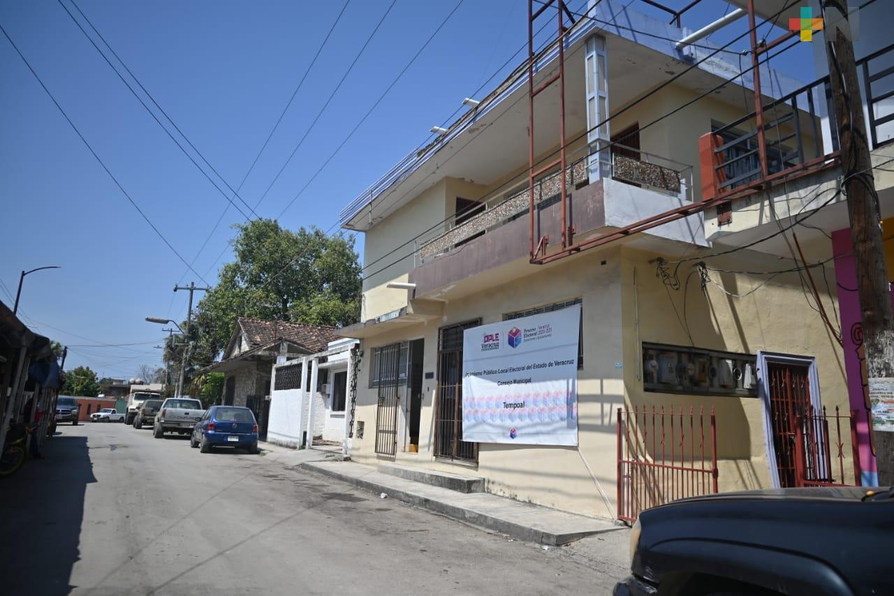 Consejo Municipal del OPLE en Tempoal, listo para jornada electoral