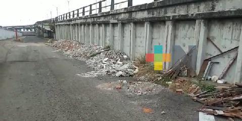 Denuncian basurero clandestino a un costado de puente Allende de Veracruz