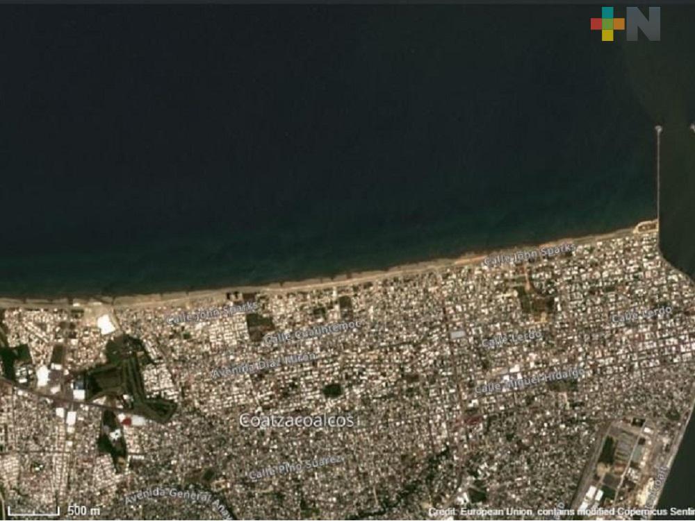 Satélite espacial capta imágenes de crecimiento urbano y contaminación atmosférica en Coatzacoalcos