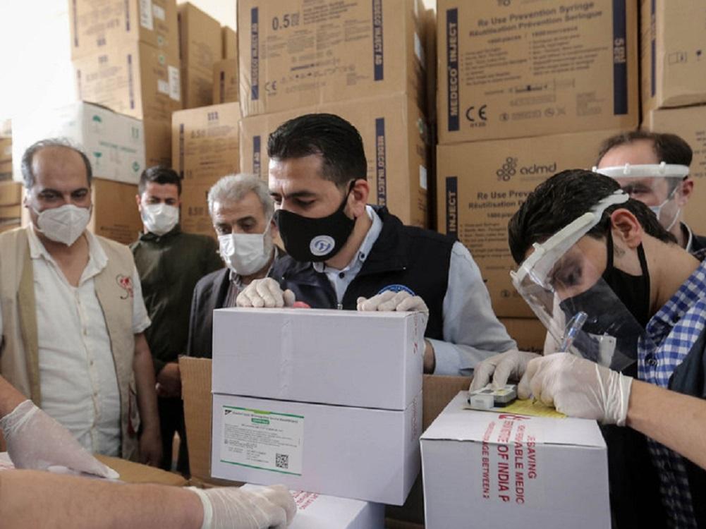 Siria recibe vacunas contra COVID-19