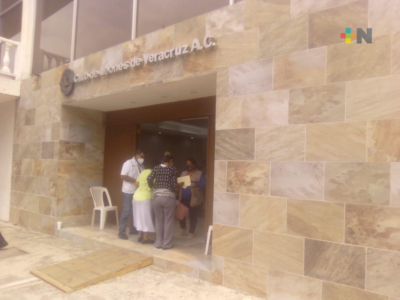 Aplicaron segunda dosis de vacunación en puerto de Veracruz, a quienes no acudieron en días anteriores