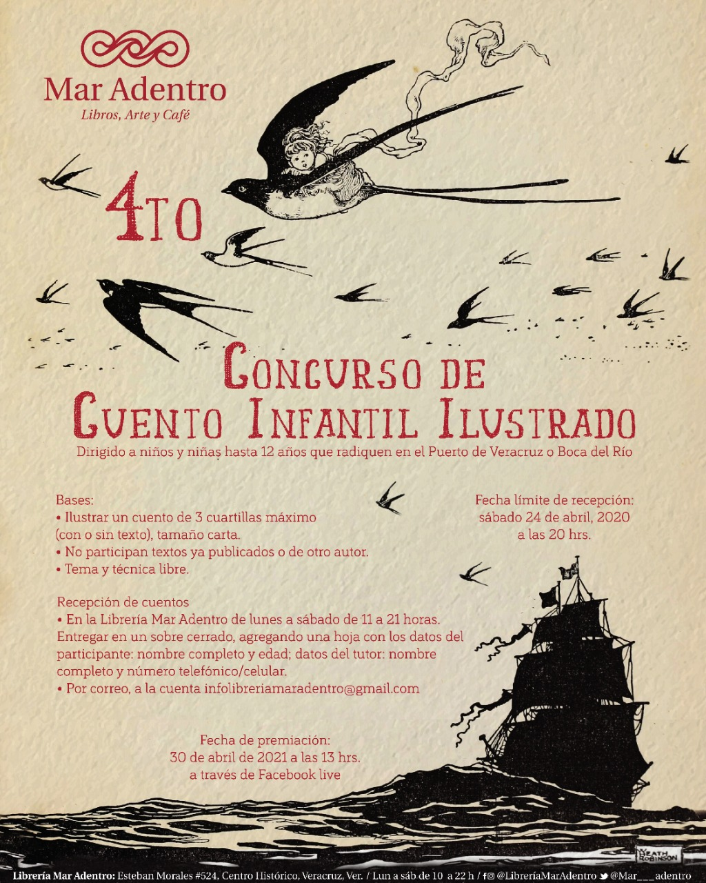 Librería del puerto de Veracruz convoca a concurso de Cuento Infantil Ilustrado
